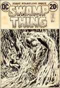 Original Comic Art:Covers, Bernie Wrightson Swamp Thing #1 Cover Original Art (DC,1972)....