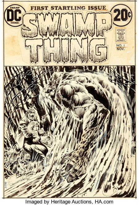 Bernie Wrightson Swamp Thing #1 Cover Original Art (DC, 1972)....
