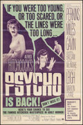 "Movie Posters:Hitchcock, Psycho (Paramount, R-1965). Poster (40"" X 60""). Hitchcock.. ..."