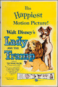 "Movie Posters:Animation, Lady and the Tramp (Buena Vista, R-1962). Poster (40"" X 60"").Animation.. ..."