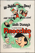 "Movie Posters:Animation, Pinocchio (Buena Vista, R-1962). Silk-Screen Poster (40"" X 60"").Animation.. ..."
