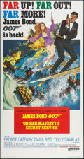 "Movie Posters:James Bond, On Her Majesty's Secret Service (United Artists, 1970). International Three Sheet (41"" X 77""). James Bond.. ..."
