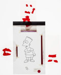 "Movie Posters:Animation, The Simpsons (20th Century Fox, 1995). Animation Cel (8.5"" X 14"") Bart Simpson. Animation.. ..."