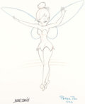 Animation Art:Poster, Tinker Bell Signed Lithographic Print (Walt Disney, c.1990s)....