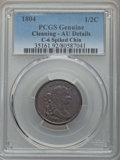 1804 1/2 C Spiked Chin, C-6, B-6, R.2, -- Cleaning -- PCGS Genuine. AU Details. NGC Census: (0/0). PCGS Population (2/15...