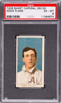 Baseball Cards:Singles (Pre-1930), 1909-11 T206 Sweet Caporal Eddie Plank PSA EX-MT 6. ...