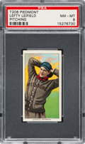 Baseball Cards:Singles (Pre-1930), 1909-11 T206 Piedmont Lefty Leifield (Pitching) PSA NM-MT 8 - NoneHigher. ...
