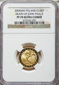 Poland: Republic gold Proof 100 Zlotych 2005-MW PR70 Ultra Cameo NGC