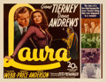 "Movie Posters:Film Noir, Laura (20th Century Fox, 1944). Half Sheet (22"" X 28""). From thecollection of William E. Rea.. ..."