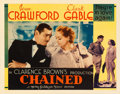 "Movie Posters:Drama, Chained (MGM, 1934). Half Sheet (22"" X 28""). From the collectionof William E. Rea.. ..."