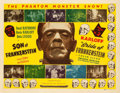 "Movie Posters:Horror, Son of Frankenstein/Bride of Frankenstein Combo (Realart, R-1948).Half Sheet (22"" X 28""). From the collection of William ..."