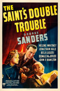 "Movie Posters:Mystery, The Saint's Double Trouble (RKO, 1940). One Sheet (27"" X 41"").From the collection of William E. Rea.. ..."