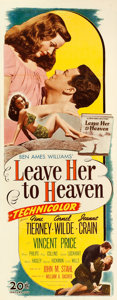 "Movie Posters:Film Noir, Leave Her to Heaven (20th Century Fox, 1945). Insert (14"" X 36"").From the collection of William E. Rea.. ..."