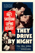 "Movie Posters:Drama, They Drive by Night (Warner Brothers, 1940). One Sheet (27"" X 41"").From the collection of William E. Rea.. ..."