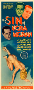 "Movie Posters:Crime, The Sin of Nora Moran (Majestic, 1933). Insert (14"" X 36""). Fromthe collection of William E. Rea.. ..."