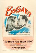 "Movie Posters:Romance, To Have and Have Not (Warner Brothers, 1944). One Sheet (27"" X41""). From the collection of William E. Rea.. ..."