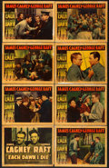 "Movie Posters:Crime, Each Dawn I Die (Warner Brothers, 1939). Linen Finish Lobby CardSet of 8 (11"" X 14"").. ... (Total: 8 Items)"
