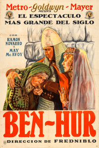 "Ben-Hur (MGM, 1925). Argentinean Poster (29"" X 43"") A. Wagener Artwork"
