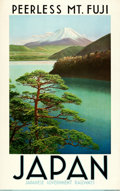 "Movie Posters:Miscellaneous, Japan Travel Poster (Japanese Government Railways,1930s). Poster(25"" X 39"") ""Peerless Mount Fuji."". ..."