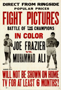 "Movie Posters:Sports, Frazier vs. Ali Fight (Cinerama Releasing, 1971). One Sheet (27"" X 41"").. ..."
