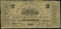 Obsoletes By State:Louisiana, Pointe Coupee, LA- Parish of Pointe Coupee $2 July, 1862...