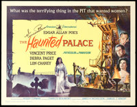 """The Haunted Palace (American International, 1963). Autographed Half Sheet (22"""" X 28"""")"""