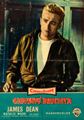 """Movie Posters:Drama, Rebel without a Cause (Warner Brothers, 1955). Italian Photobusta(18.5"""" X 26.5"""").. ..."""