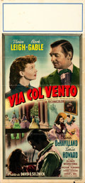 "Movie Posters:Academy Award Winners, Gone with the Wind (MGM, R-1950s). Italian Locandina (12.75"" X 27.5""). Academy Award Winners.. ..."