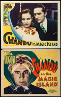 "Movie Posters:Adventure, Chandu on the Magic Island (Principal Distributing, 1935). TitleLobby Card & Lobby Card (11"" X 14"").. ... (Total: 2 Items)"