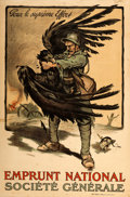 "Movie Posters:War, French World War I Propaganda (Société Générale, 1918). NationalLoan French Poster (31"" X 47"").. ..."