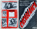 "Movie Posters:Academy Award Winners, Casablanca (Warner Brothers, 1942). Uncut Pressbook (24 Pages Plus8 Page Ad Supplement, 11"" X 17"").. ..."
