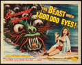 "Movie Posters:Science Fiction, The Beast with 1,000,000 Eyes! (American Releasing Corp., 1955).Half Sheet (22"" X 28""). Science Fiction.. ..."
