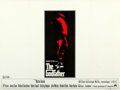 "Movie Posters:Crime, The Godfather (Paramount, 1972). British Quad (30"" X 40"").. ..."