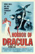 "Movie Posters:Horror, Horror of Dracula (Universal International, 1958). One Sheet (27"" X 41"") Blue Style.. ..."
