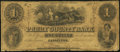 Obsoletes By State:Indiana, Cannelton, IN- Perry County Bank $1 Feb. 1, 1854...