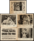"Movie Posters:Drama, Under the Yoke (Fox, 1918). Title Lobby Card and Lobby Cards (4)(8"" X 10"").. ... (Total: 5 Items)"