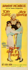 "Movie Posters:Comedy, Some Like It Hot (United Artists, 1959). Insert (14"" X 36"").. ..."