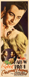 "Movie Posters:Romance, Personal Property (MGM, 1937). Insert (14"" X 36"").. ..."