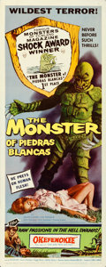"Movie Posters:Horror, The Monster of Piedras Blancas (Film Service Distributing, 1959). Insert (14"" X 36"").. ..."