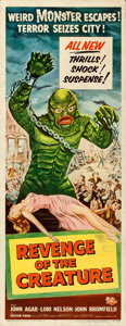 "Movie Posters:Horror, Revenge of the Creature (Universal International, 1955). Insert (14"" X 36"").. ..."