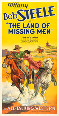 """Movie Posters:Western, The Land of Missing Men (Tiffany, 1930). Three Sheet (41"""" X 80"""")Style B.. ..."""