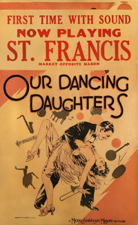 """Our Dancing Daughters (MGM, 1928). Window Card (14"""" X 22"""")"""