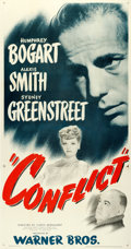 """Movie Posters:Film Noir, Conflict (Warner Brothers, 1945). Three Sheet (41.5"""" X 79"""").. ..."""
