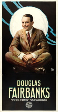 "Douglas Fairbanks Stock Poster (Artcraft Pictures, c.1918-1919). Three Sheet (42"" X 80"")"