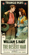"Movie Posters:Western, The Desert Man (Triangle, 1917). Three Sheet (42"" X 79"").. ..."