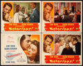 "Movie Posters:Hitchcock, Notorious (RKO, 1946). Title Lobby Card and Lobby Cards (3) (11"" X14"").. ... (Total: 4 Items)"