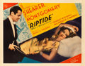 "Riptide (MGM, 1934). Half Sheet (22"" X 28"") Style A. From the collection of William E. Rea"