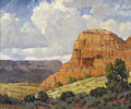 Texas:Early Texas Art - Impressionists, STAPLETON KEARNS (b. 1952). The Coming Rain - Palo Duro Canyon,Texas, 2004. Oil on canvas. 20in. x 24in.. Signed and da...