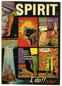 The Spirit #2 (Fiction House, 1952) Condition: VG/FN. Cover and two pages of art by Will Eisner. Overstreet 2006 VG 4.0...