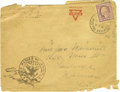 Basketball Collectibles:Others, 1918 James Naismith Signed Mailing Envelope.. Text: J. Naismith,YMCA, [Illegible], Mrs. Jas. Naismith, 1635 Mass St., Law...